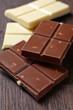 various chocolate bar