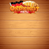Oktoberfest Poster or Menu Template. Vector Image
