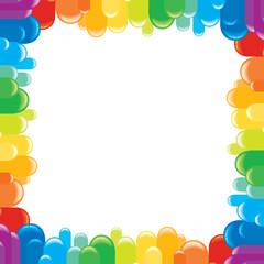 Funky Colorful Frame. Vector Illustration
