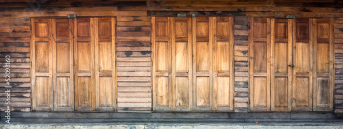 Wood Door and Wall