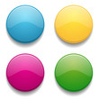Colorful round button set