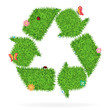 Vector Grass recycle symbol ecological concept