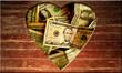 Holzherz - Dollars