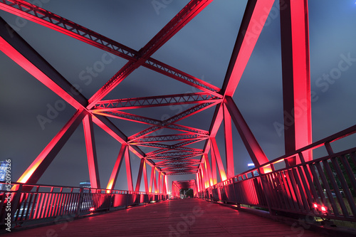 Steel bridge close-up - 52099326