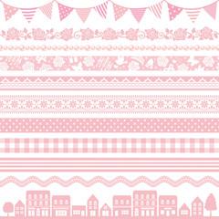 ピンク かわいい 広告 ライン バナー