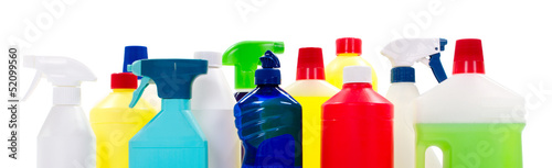 Cleaning materials, bottles