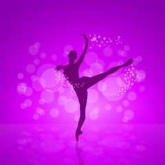 Vector cover classical ballet
