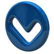 Blue tick sign icon