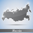 shiny icon in form of Russia