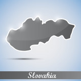 shiny icon in form of Slovakia