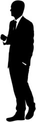 Shadow of a talking man
