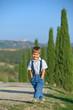 Happy boy in Tuscan