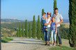 Happy family in Tuscan