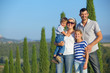 Quadro Happy family in Tuscan