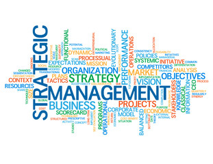 STRATEGIC MANAGEMENT Tag Cloud (lean business strategy process)