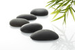 zen / spa stones with bamboo grass