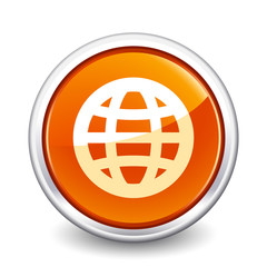 button orange globe