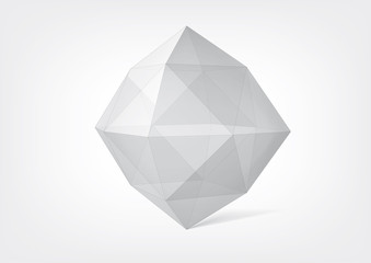 Transparent crystal polyhedron