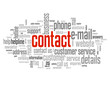 """CONTACT"" Tag Cloud (contact details call us customer service)"
