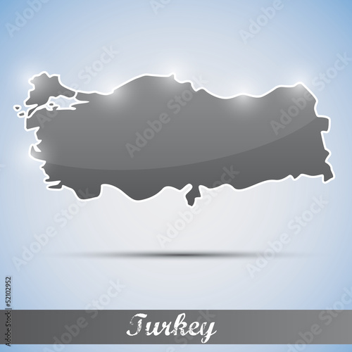 shiny icon in form of Turkey