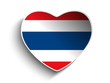 Thailand Flag Heart Paper Sticker