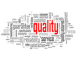 """QUALITY"" Tag Cloud (customer service reliability satisfaction)"