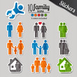 Family stickers set