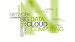 Network Big Data Cloud computing words tag cloud animation