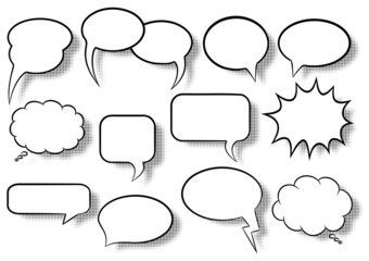 Sprechblasen , speech bubbles