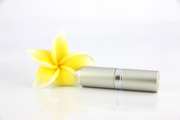 The Yellow flowers and Lipstick casing Silver.