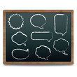 Black Chalk Board With Speech Bubble Set