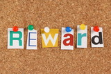 The word Reward in cut out magazine letters