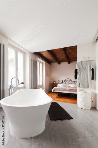 interior bathroom and bedroom