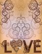 Wedding love invitation card, vector illustration