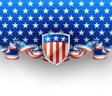 Patriotic background with shield