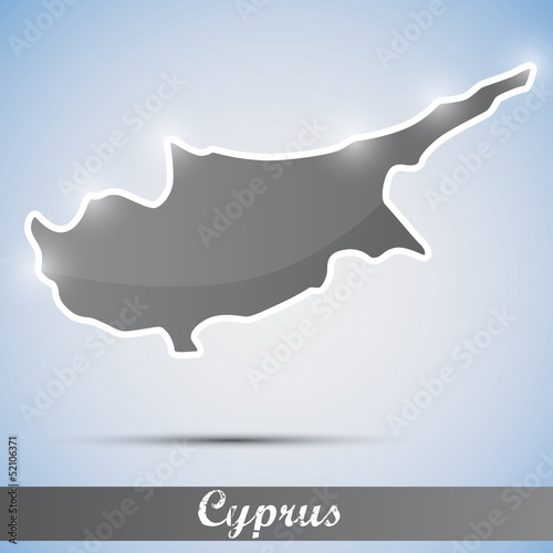 shiny icon in form of Cyprus