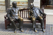 Постер, плакат: Franklin D Roosevelt & Winston Churchill Statue in London