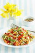 Whole grain salad with summer vegetables