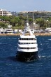 Private luxury yacht close to Cannes; France.