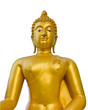 golden buddha on white background