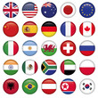 Set of Round Flags world top states - 52108736