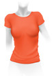 Woman orange t-shirt template