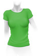 Woman green t-shirt template
