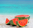 watermelon and sea