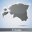 shiny icon in form of Estonia