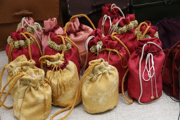 cute little bags to lay their coins or spices during the middle