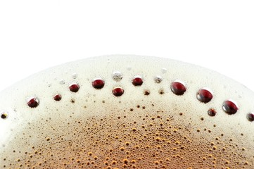 Foam on Fizzy Soft Drink