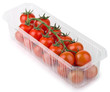 Red Cherry Tomatoes in plastic tray