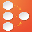 Empty Flowchart Oval Circles Orange Background