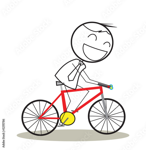 businessman bicycle